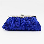 お買い得  クラッチバッグ&イブニングバッグ-女性用 バッグ サテン イブニングバッグ クリスタル / ラインストーン ピンク / ライトグレー / スイカ色 / ウェディングバッグ