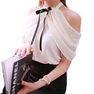 Χαμηλού Κόστους Γυναικεία Μόδα & Ρούχα-Γυναικεία Μπλούζα Μονόχρωμο Δίχτυ / Εφαρμοστό / Καλοκαίρι