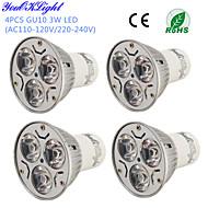 3W GU10 LED Spot Işıkları R63 3 led Yüksek Güçlü LED Dekorotif Sıcak Beyaz Serin Beyaz 200-250lm 3000/6000K AC 220-240 AC 110-130V