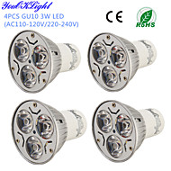 3W GU10 LED Spotlight R63 3 High Power LED 200-250 lm Warm White Cold White 3000/6000 K Decorative AC 220-240 AC 110-130 V
