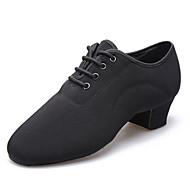 """baratos Sapatos de Tamanho Pequeno-Masculino Latina Lona Salto Meia Solas Interior De Amarrar Salto Baixo Preto 1 """"- 1 3/4"""" Não Personalizável"""