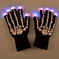 halloween led licht skelet patroon handschoenen voor de partij fietsen vinger verlichting warm houden voor party club dans