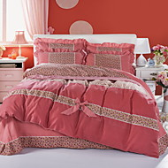 Yuxin®Korean Version of the Korean Velvet Skin-Friendly Family of Four Sanding   Bedding Apply Sheets   Bedding Set