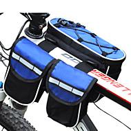 FJQXZ® Sykkelveske 3LLVesker til sykkelramme Vanntett Regn-sikker Multifunksjonell Sykkelveske Nylon Sykkelveske Alle Mobiltelefon Sykling