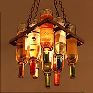 billige Takbelysning og vifter-3-Light Originale Lysekroner Opplys galvanisert Metall Glass Mini Stil 110-120V / 220-240V Varm Hvit Pære ikke Inkludert / E12 / E14 / E26 / E27