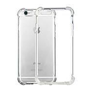 Para iPhone X iPhone 8 iPhone 8 Plus iPhone 6 iPhone 6 Plus Case Tampa Antichoque Transparente Capa Traseira Capinha Côr Sólida Macia PUT