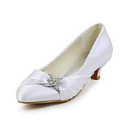 Kadın Ayakkabı İpek Bahar Yaz Sonbahar Düşük Topuk Düğün Elbise Parti ve Gece için Kristal Kırmzı Pembe Navy Mavi Açık Kahverengi Kristal