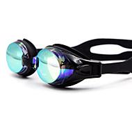 משקפי שחייה עמיד למים סיליקה ג'ל PC לבן שחור כחול כחול כהה צהוב ורוד שחור כחול כחול כהה