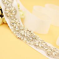 Χαμηλού Κόστους Κορδέλες-Σατέν Γάμου / Πάρτι / Βράδυ Ζώνη Με Τεχνητό διαμάντι / Απομίμηση Πέρλας Γυναικεία Ζώνες για Φορέματα