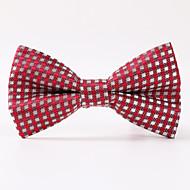 מסיבת גברים / ערב חתונה רשמית אדום רשת טוויל פוליאסטר קשת עניבה
