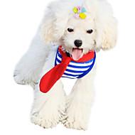 犬用品 ハーネス / リード / バンダナ(首輪) 調整可能/引き込み式 レッド / グリーン / ブルー 織物