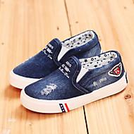 baratos Sapatos de Menino-Para Meninos Para Meninas sapatos Jeans Primavera Verão Outono Conforto Pom Pom para Atlético Casual Ao ar livre Azul Marinho Azul Claro