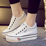 Women's Shoes Canvas Increased Within Flange Leisure Platform Comfort / Round Toe Fashion Sneakers Outdoor / Athletic