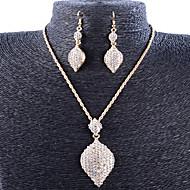 Žene Komplet nakita Kubični Zirconia Umjetno drago kamenje Pozlaćeni Legura Vintage Zabava Moda Party Special Occasion godišnjica