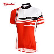 ieftine TASDAN®-TASDAN Pentru femei Manșon scurt Jerseu Cycling - Rosu Roz Bicicletă Jerseu Set de Îmbrăcăminte, Uscare rapidă, Rezistent la