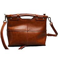 Women Bags All Seasons Cowhide Shoulder Bag Tote for Casual Office & Career Black Brown Red Blue