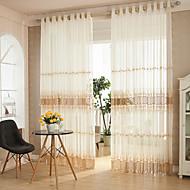 To paneler Rustikk / Moderne / Designer Stripe / Kurv Som På Bilde Stue Polyester Sheer Gardiner Shades