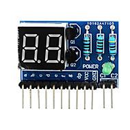 """2 dígitos ânodo comum 0,36 """"módulo de display digital para arduino + pi framboesa - azul"""