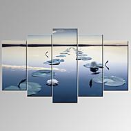 ポップアート トラベル ファンタジー 写真 愛国 現代風 ロマンチック 5枚 横式 プリント 壁の装飾 For ホームデコレーション