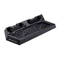 #-P4-CS001B-Vifter og Stativer-Metal / ABS-USB-PS4 / Sony PS4
