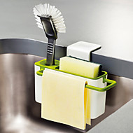 Kitchen Brush Sponge Sink Draining Towel Washing Holder with Suction Cup Utensils Dry Racks Random Color