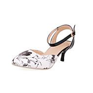 baratos Sapatos Femininos-Mulheres Sapatos Materiais Customizados Primavera / Verão Conforto / Gladiador Salto Sabrina Presilha Vermelho / Verde / Azul