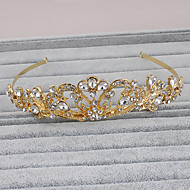 cheap Dazzling Accessories-Rhinestone Tiaras Headwear with Floral 1pc Wedding Special Occasion Casual Office & Career Outdoor Headpiece