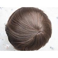 ilmekledi saç parçası sistemi - Erkek 8x10 v için belirlenemeyen süper ince deri erkek peruk tam pu peruk