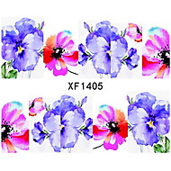 halpa -3D Nail Stickers / Nail Jewelry-PVC-Kukka-Sormi-65mm*55mm-1pcs