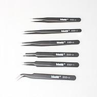 billige Håndværktøj-sorte ikke-magnetiske pincet, anti-statisk pose til elektronik, smykker making, laboratorier mv (6p)
