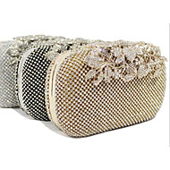 Women Bags Polyester Evening Bag Crystal/ Rhinestone for Wedding Event/Party Formal Office & Career All Seasons Gold Black Silver