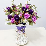 preiswerte -Künstliche Blumen 1 Ast Simple Style Rosen Tisch-Blumen