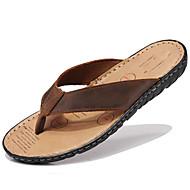 baratos Sapatos Femininos-Unisexo Sapatos Pele Napa Primavera Verão Outono par sapatos Chinelos e flip-flops Água para Casual Ao ar livre Social Preto Castanho