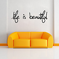 Words & Quotes Wall Stickers Plane Wall Stickers,vinyl 57*19cm