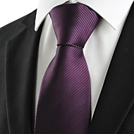 Krawat-Prążki(Fioletowy,Poliester)