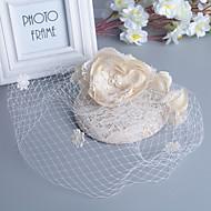 billiga Brudhuvudbonader-Pärla Fjäder fascinators 1 Bröllop Speciellt Tillfälle Hårbonad