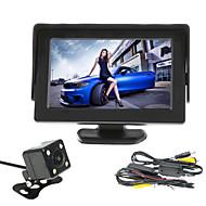 renepai® 4.3 palcový Monitor + bezdrátová 170 ° HD auto zadní kamera + high-definition širokoúhlý vodotěsné CMOS kamery