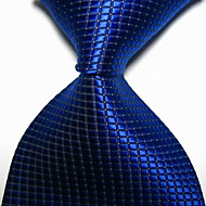 Men's Party/Evening Royal Checked JACQUARD WOVEN Necktie Necktie