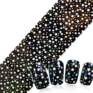 NEW Nail Art Transfer Foils Glue Transfer Adhesive DIY Full Glitter Star Pattern for Nails Toes Accessory 100cmx4cm