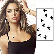 10cm Wrist Flash Tattoo Fake Tatto Birds Design Waterproof Temporary Tattoo Sticker For Body Art Women Flesh Tatoos