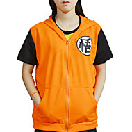 Inspireret af Dragon Ball Son Goku Anime Cosplay Kostumer Cosplay T-shirt Trykt mønster Kortærmet Frakke Til Herre / Dame Halloween Kostumer