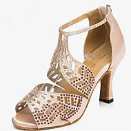 billige -60%-Kan spesialtilpasses-Dame-Dansesko-Latinamerikansk / Moderne-Sateng-Stiletthæl-Rosa