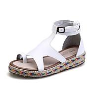 cheap Women's Sandals-Women's Shoes Microfiber Summer Creepers / Gladiator Platform Buckle Black / Brown / Green