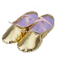billige Ballettsko-Herre / Dame Ballettsko Lerret Flate / Støvler Flat hæl Kan ikke spesialtilpasses Dansesko Sølv / Gull / Ytelse / Trening