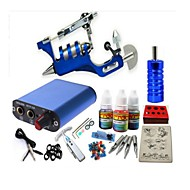preiswerte Tattoo Beginner Sets-BaseKey Tätowiermaschine Beginner Set - 1 pcs Tattoo-Maschinen mit 1 x 20 ml Tätowierfarben, Professionell Mini Stromversorgung Case Not Included 1 x Stahl-Tattoomaschine für Umrißlinien und