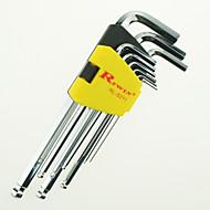 rewin® nástrojového Technicky čistý Inch 9pcs hex klíč nastaven S2 legovaných ocelí