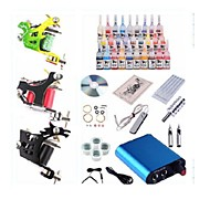 cheap Discount Tattoo Kits-Tattoo Machine Starter Kit 1 steel machine liner & shader 3 steel machine liner & shader 1 alloy machine liner & shader Mini power supply