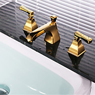 Shower Faucet / Bathtub Faucet / Bathroom Sink Faucet-Contemporary-Waterfall-Brass(Gold)