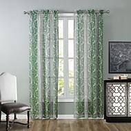 Et panel Window Treatment Moderne Stue Polyester Materiale Gardiner Skygge Hjem Dekor For Vindu