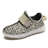 baratos Sapatos de Menina-Para Meninos Para Meninas Sapatos Tecido Inverno Primavera Verão Outono Conforto Inovador Tênis com LED Tênis Sem Salto Franzido para